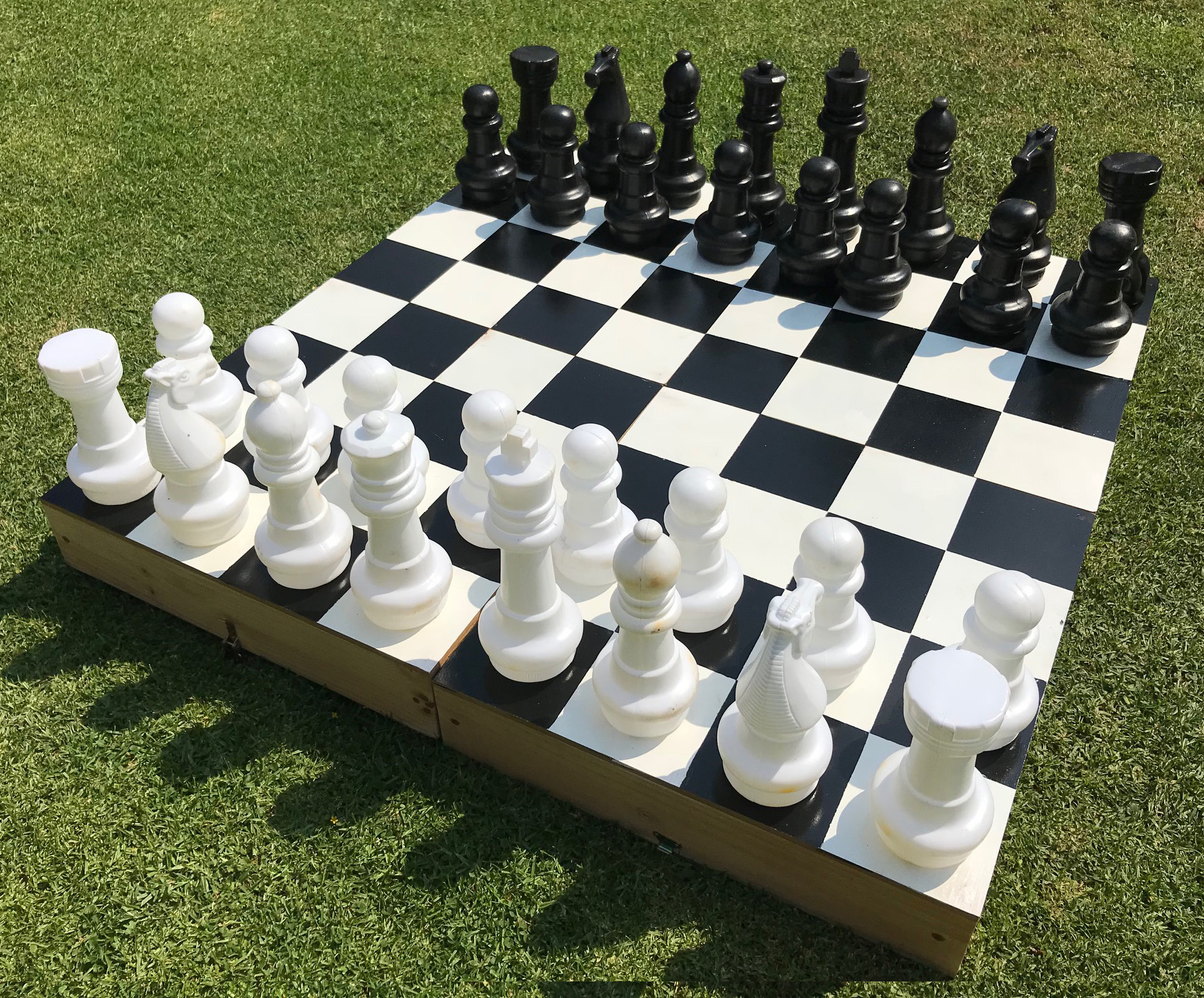 Giant Chess Garden Game Available For Hire In Johannesburg